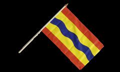 Netherlands Overijssel Hand Waving Flag - 12 x 18 inch