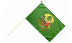 Ottoman Empire Coat of Arms Hand Waving Flag - 12 x 18 inch