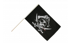 Pirate with bloody sabre Hand Waving Flag - 2 x 3 ft.