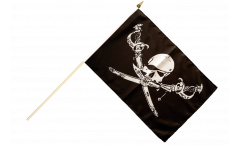 Pirate with sabre Hand Waving Flag - 12 x 18 inch