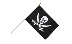 Pirate with two swords Hand Waving Flag - 12 x 18 inch