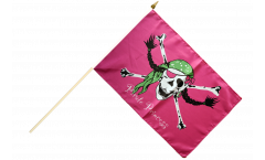 Pirate Princess Hand Waving Flag - 12 x 18 inch