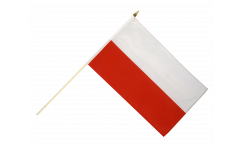 Poland Hand Waving Flag - 12 x 18 inch