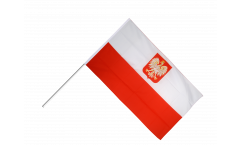 Poland with eagle Hand Waving Flag