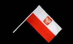 Poland with eagle Hand Waving Flag