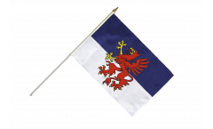 Pomerania Hand Waving Flag - 12 x 18 inch