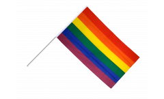 Rainbow Hand Waving Flag
