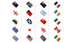 Hand Waving Flag Pack Rugby World Cup 2015 - 30 x 45 cm