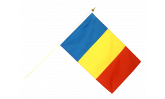 Rumania Hand Waving Flag - 12 x 18 inch