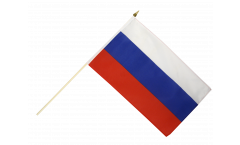 Russia Hand Waving Flag - 12 x 18 inch