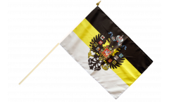 Russia Romanov with Crest 1858-1883 Hand Waving Flag
