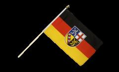 Saarland Hand Waving Flag - 12 x 18 inch