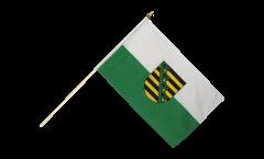 Saxony Hand Waving Flag - 12 x 18 inch