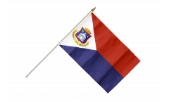 Saint Martin Hand Waving Flag - 12 x 18 inch