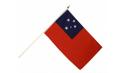 Samoa Hand Waving Flag - 12 x 18 inch