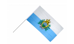 San Marino Hand Waving Flag