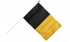 black-yellow Hand Waving Flag - 12 x 18 inch