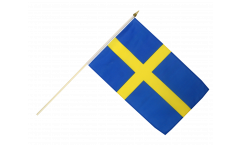 Sweden Hand Waving Flag