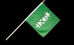 Switzerland Canton St. Gallen Hand Waving Flag - 12 x 12 inch