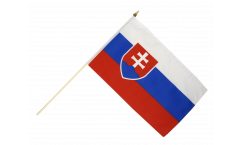 Slovakia Hand Waving Flag - 12 x 18 inch