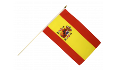 Spain Hand Waving Flag - 12 x 18 inch