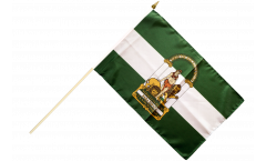 Spain Andalusia Hand Waving Flag - 12 x 18 inch