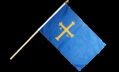 Spain Asturias Hand Waving Flag - 12 x 18 inch
