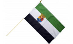 Spain Extremadura Hand Waving Flag - 12 x 18 inch