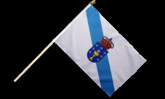 Spain Galicia Hand Waving Flag - 12 x 18 inch