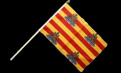 Spain Ibiza Hand Waving Flag - 12 x 18 inch