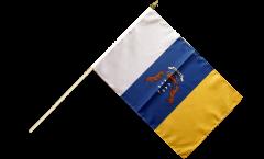 Spain Canaries Hand Waving Flag - 12 x 18 inch