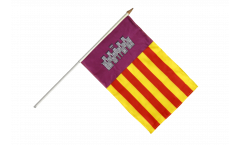Spain Majorca Hand Waving Flag - 12 x 18 inch