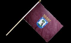 Spain City of Madrid Hand Waving Flag - 12 x 18 inch