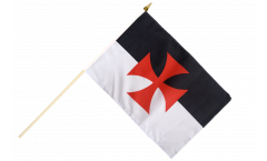 Temple Knight Hand Waving Flag - 12 x 18 inch