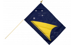 Tokelau Hand Waving Flag - 12 x 18 inch