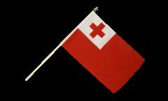 Tonga Hand Waving Flag - 12 x 18 inch
