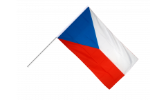 Czech Republic Hand Waving Flag