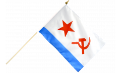 USSR Soviet Navy Hand Waving Flag - 12 x 18 inch