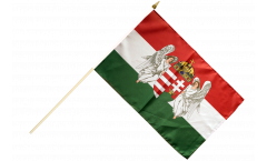 Kingdom of Hungary 1867-1918 Hand Waving Flag - 12 x 18 inch