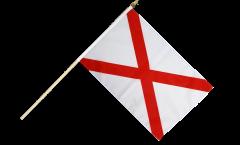 USA Alabama Hand Waving Flag - 12 x 18 inch