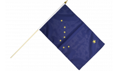 USA Alaska Hand Waving Flag - 12 x 18 inch