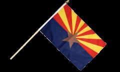 USA Arizona Hand Waving Flag - 12 x 18 inch