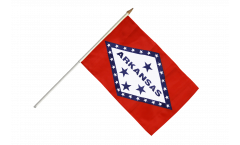 USA Arkansas Hand Waving Flag - 12 x 18 inch
