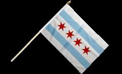 USA City of Chicago Hand Waving Flag - 12 x 18 inch