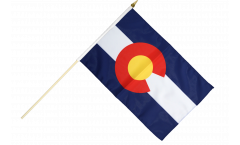 USA Colorado Hand Waving Flag