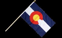 USA Colorado Hand Waving Flag - 12 x 18 inch