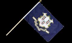 USA Connecticut Hand Waving Flag - 12 x 18 inch