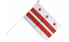 USA District of Columbia Hand Waving Flag - 12 x 18 inch