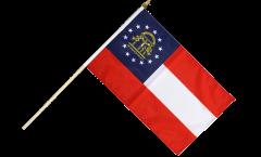 USA Georgia Hand Waving Flag - 12 x 18 inch