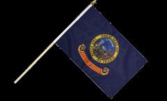 USA Idaho Hand Waving Flag - 12 x 18 inch